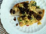 Scrambled Eggs with Greens and Mushrooms