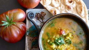 Dal with tomatoes