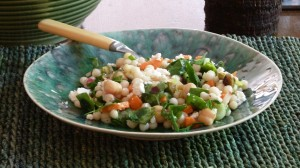 Israeli Couscous Salad with Lemon and Spinach