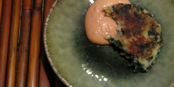 Potato and Kale Cakes with Rouille | Four Cooking Together
