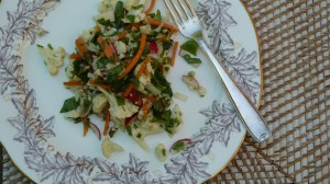 Cauliflower, Carrot and Radish Salad with Arugula
