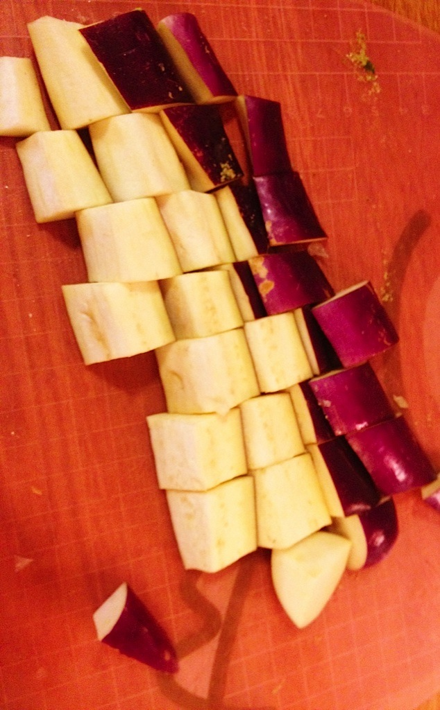 Dice Eggplant