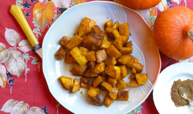 Maple-Glazed Roasted Squash with Garam Masala