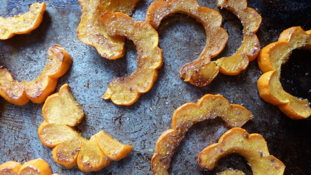 Roasted Mini Pumpkin Slices