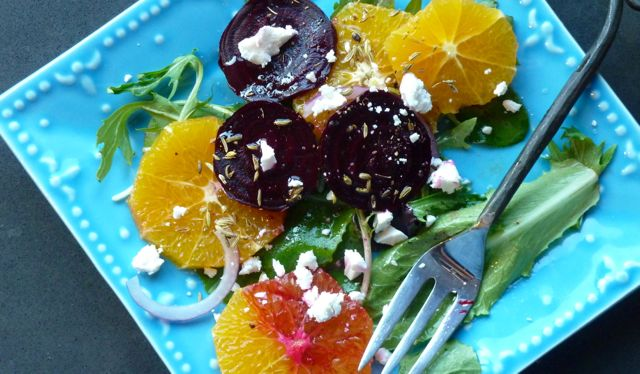Orange and Beet Salad with Fennel Seed