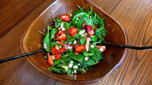 Strawberry, Arugula and Spinach Salad