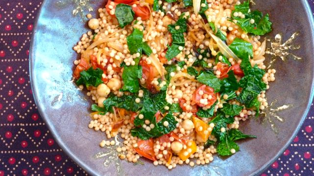 Coucous Salad with Roasted Vegetables and Harissa