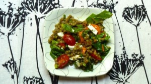 Lentil Salad with Sun-dried Tomato Vinaigrette