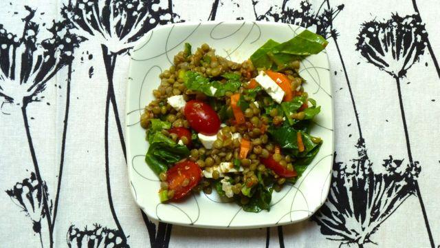 Lentil Salad with Sun-dried Tomato Vinaigrette