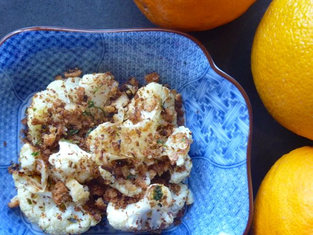 Roasted Cauliflower with Pangrattato