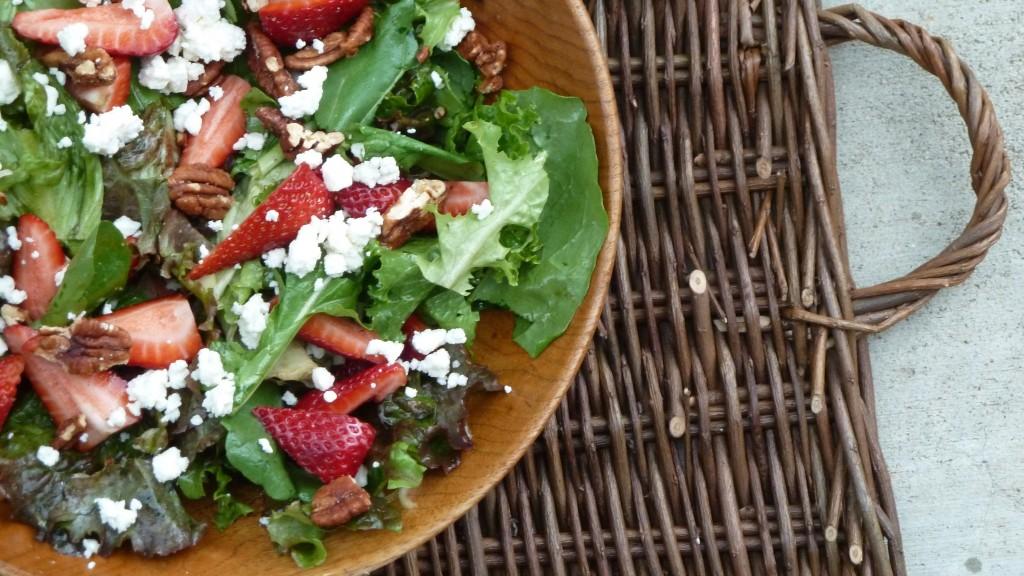 Strawberry and Arugula Salad with Feta