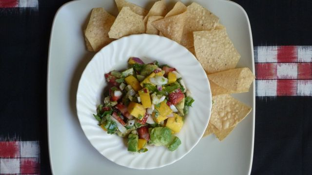 Avocado Salsa with Mango and Strawberries