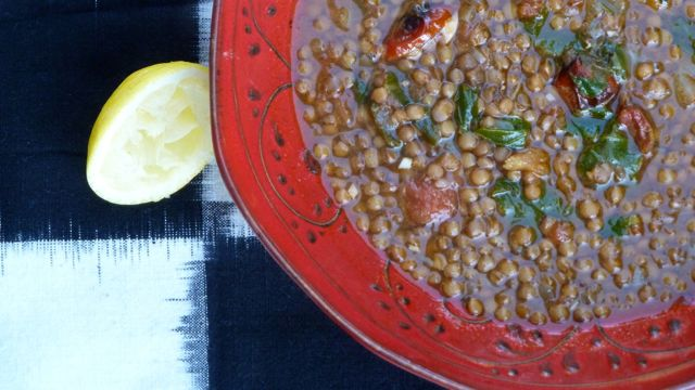 Lentil Soup with Roasted Tomato